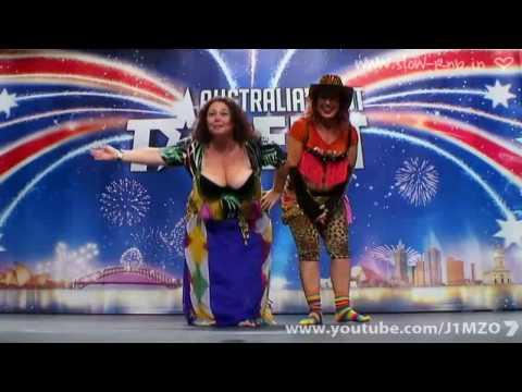 Australia's Got Talent - Idell Wadley (Belly Dancing Boob Lady) (Cleofatra)