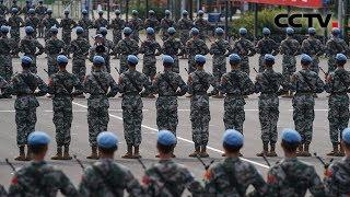 [北京 我们准备好了——阅兵训练场的故事] 维和部队方队:和平蓝遇上国庆红   CCTV