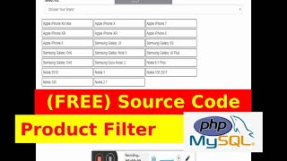 Product Filter Source Code- PHP/MYSQL - AJAX