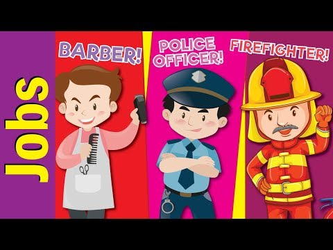 Learn Jobs & Occupations for Kids | Video Flash Cards | Kind