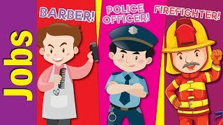 Learn Jobs & Occupations for Kids | Video Flash Cards | Kindergarten, Preschool | Fun Kids English