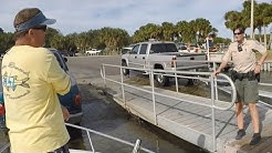commecial fishing for bluefish and getting checked by the FWC game warden