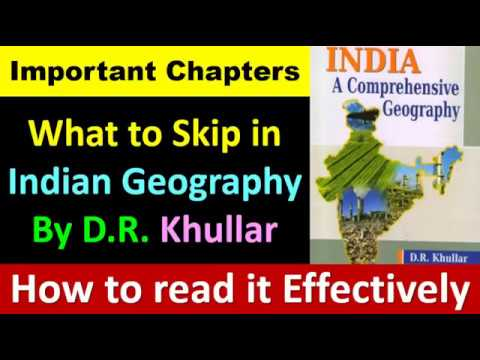 How to Read D.R. Khullar( खुल्लर )  Bulky Geography Book ( In a Smart way)
