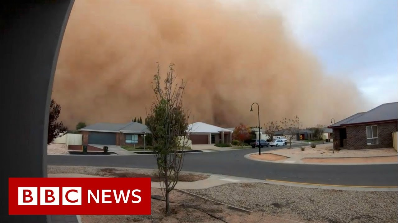 Massive dust storm engulfs Australian city - BBC News
