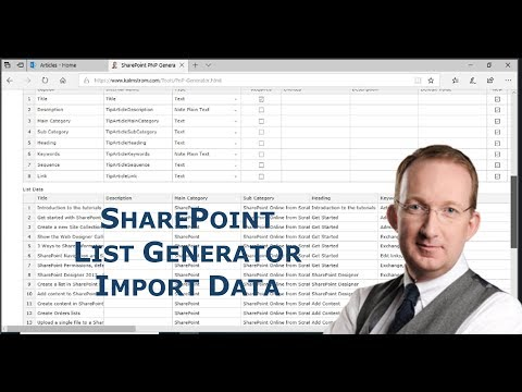 Import Data To SharePoint With PnP  List Generator