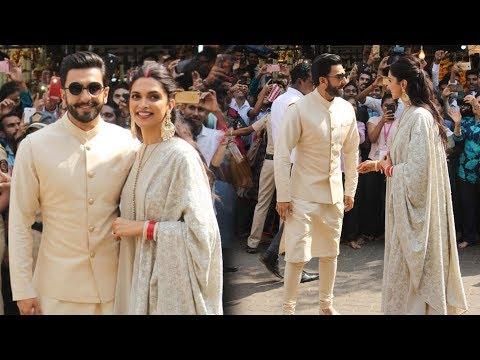 Deepika Padukone and Ranveer Singh Seek Blessings At Siddhivinayak Temple With Family