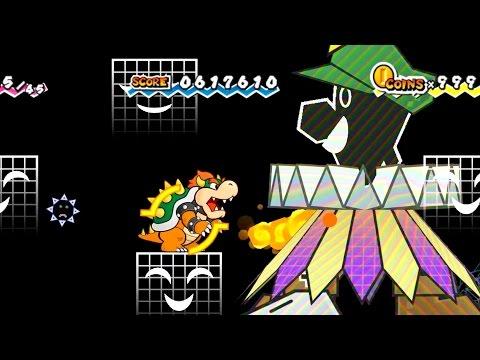 Super Paper Mario - Final Boss: Super Dimentio (No Damage)
