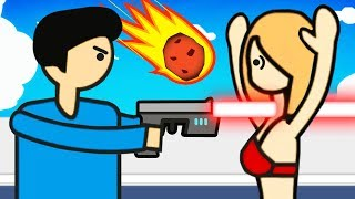 60 Seconds To Discover EVERY ILLEGAL SECRET ENDING (Meteor 60 Seconds Funny Gameplay)