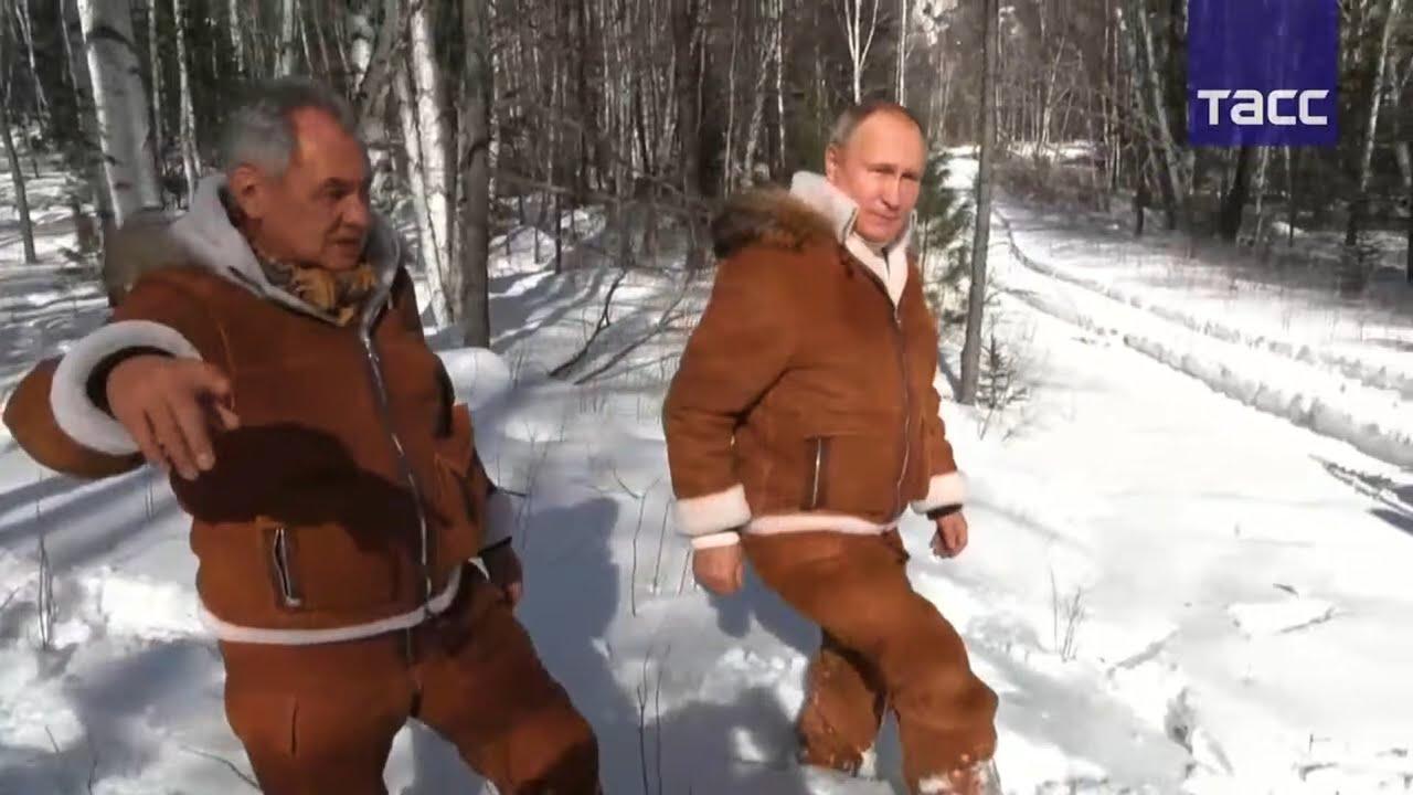 Путин и Шойгу ОТДЫХАЮТ в тайге