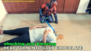 Download Marvelous Comedy - Star Wars Lightsaber turn head to Gold Chocolate (Family The Honest Comedy)