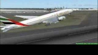 FS2004 Emirates Flight from Dubai  to Frankfurt