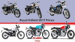 All Royal Enfield bikes price list 2019 | On road prices in Chennai