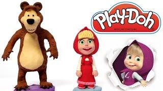 Masha and the Bear Play Doh How to do it playdo plastilina Маша и Медведь