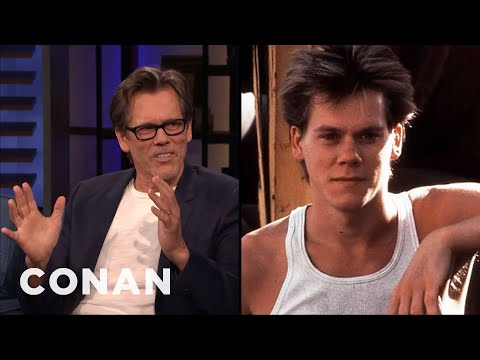 """The $1500 Haircut That Helped Kevin Bacon Get Cast In """"Footloose"""" - CONAN on TBS"""
