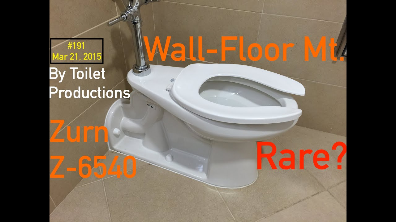 191 A Uncommon New Zurn Floor Wall Mount Toilet Youtube
