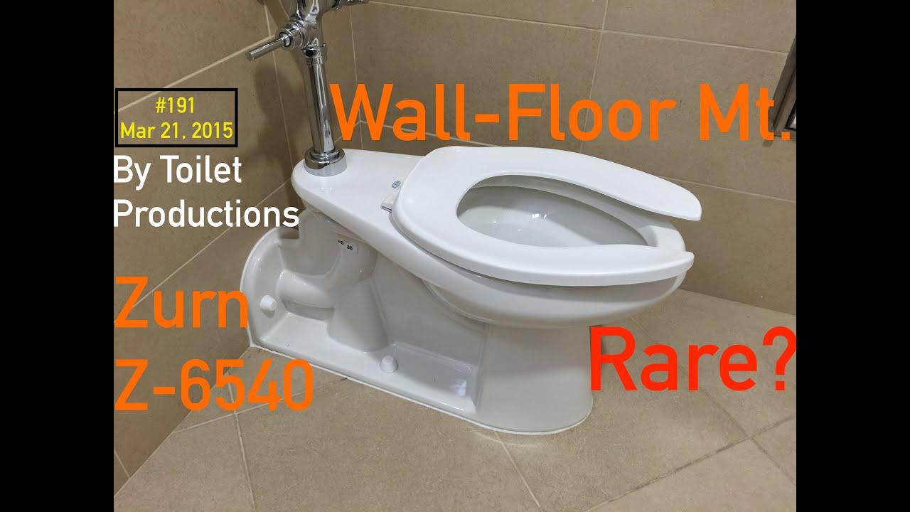 191. A Uncommon New Zurn Floor-Wall Mount Toilet - YouTube