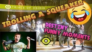 SQUEAKER MOVES TO THE HOOD!? Destiny Trolling Kid and Carrying in Trials of Osiris