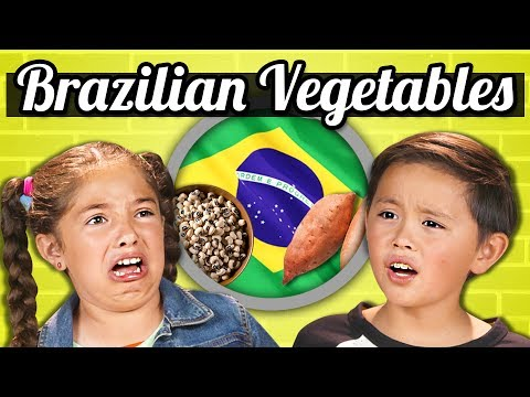 KIDS EAT BRAZILIAN VEGETABLES  Kids Vs Food