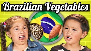 Baixar KIDS EAT BRAZILIAN VEGETABLES! | Kids Vs. Food