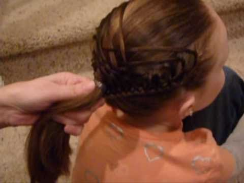 Woven French Braid Ponytail Hairstyle thumbnail