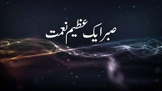 (اهمية الصبر) اوردو-sabr yek azeem nemat -by sheikh ahmed mukhter