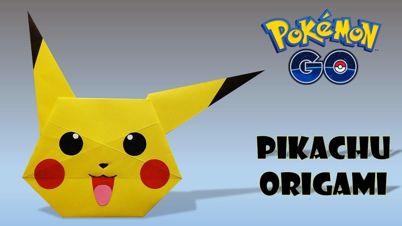 Origami Pikachu Head Pokemon How To Make Diy