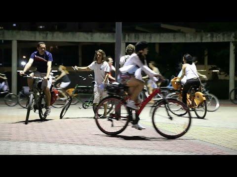 Bicicletada enche as ruas do Recife durante o primeiro Fórum Nordestino
