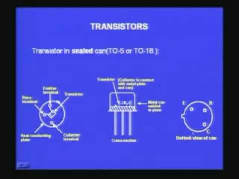 Lecture - 10 Transistors
