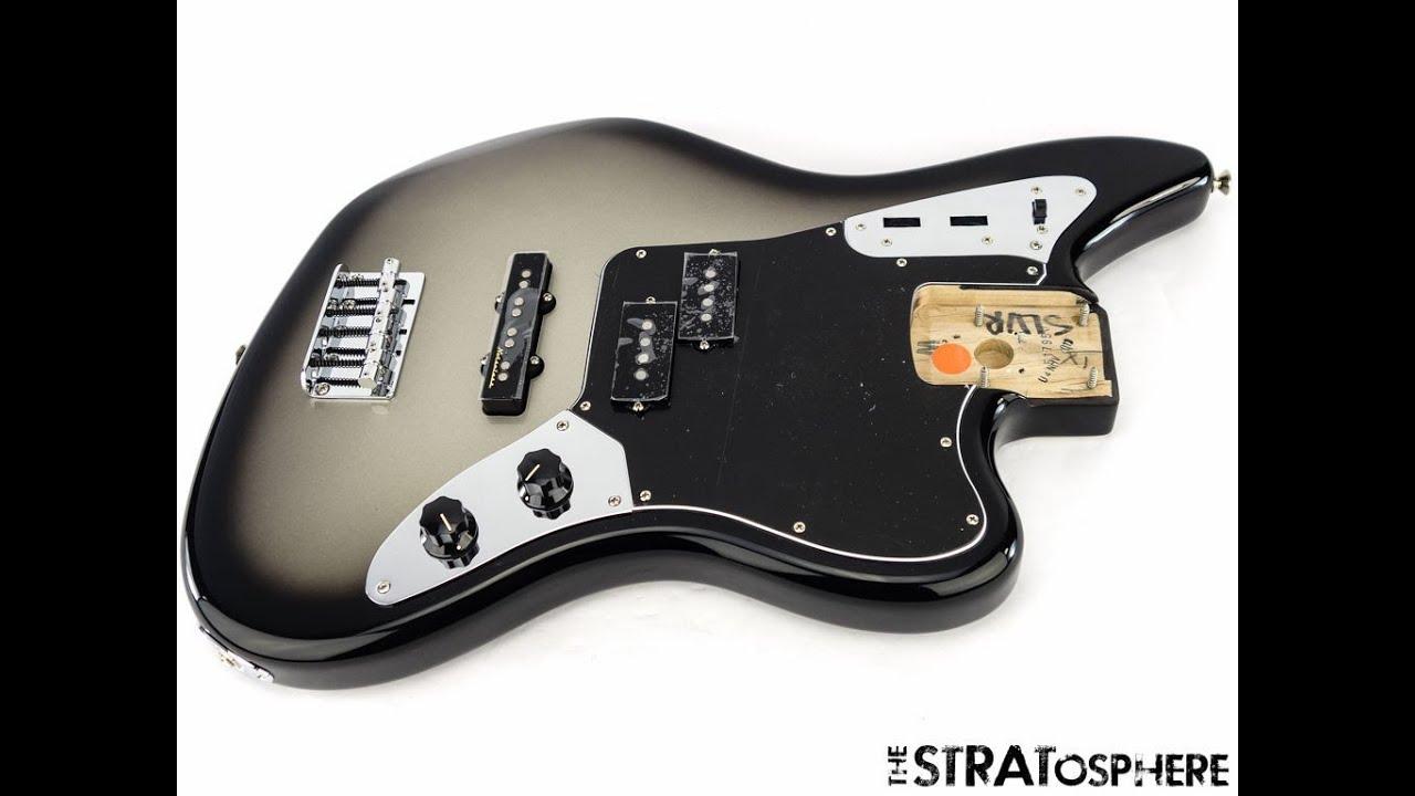 Fender Troy Sanders LOADED JAGUAR BASS BODY J Bass Guitar Parts Silverburst    YouTube