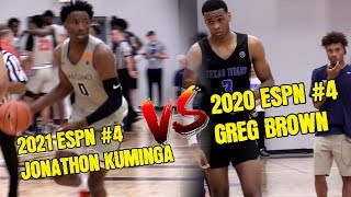 2021 Jonathon Kuminga Pours in 43pts vs 2020 ESPN #4 Greg Brown Handed Em 331