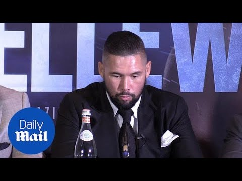 Tony Bellew and Oleksandr Usyk come face to face at press conference