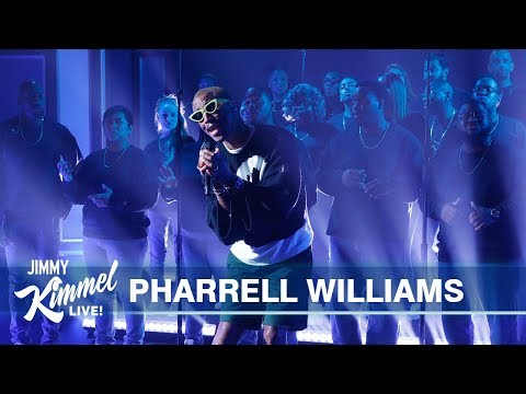 image for WATCH: Pharrell Williams Sings Letter To My Godfather on Jimmy Kimmel