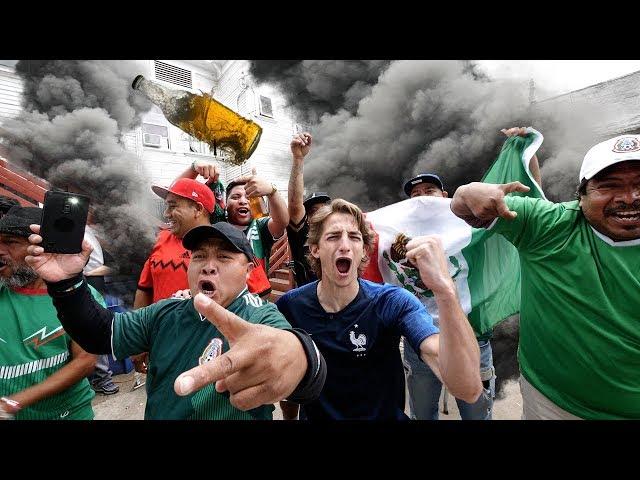 外国人敲陌生人门想去他家里看世界杯!