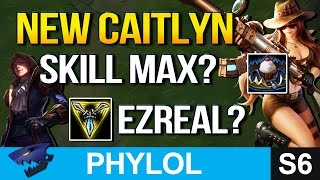New Caitlyn SKILL MAX? TRI-FORCE EZREAL? (League of Legends)