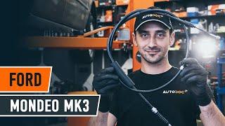 Jak vyměnit lanko ruční brzdy na FORD MONDEO MK3 Sedan [NÁVOD AUTODOC]