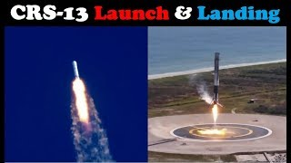 SpaceX CRS-13 Falcon 9 Launch & Landing