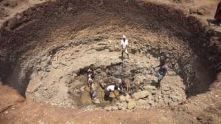 New open well construction under MGNREGS@ Mahammadapur(V) Nawabpet (M ) Vikarabad(D)