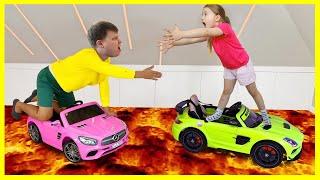 Милли и её Челлендж Пол это ЛАВА! Floor is lava | Сборник детских историй