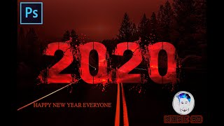 How to make Happy New Year 2020 Wallpaper Card Poster Design in Photoshop Photoshop Tutorial