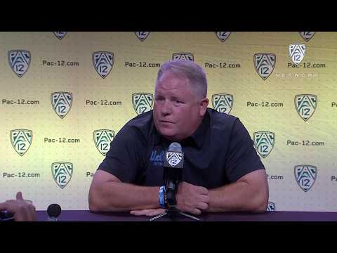 2018 Pac-12 Football Media Day: UCLA's Chip Kelly podium session