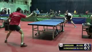 VINOGRADOV   MERZLIKIN #Moscow #Championships subscribe youtube com lehaFes #tabletennis #настольный