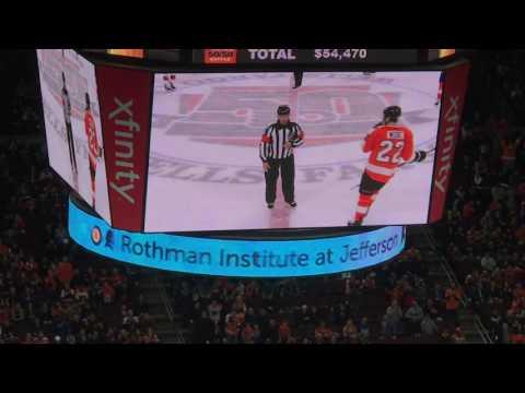 Ottawa Senators vs Philadelphia Flyers 3/28/17 - Flyers Tie It