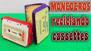 Crea tus monederos reciclando cassettes