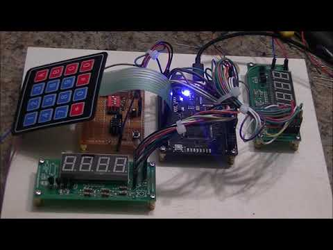 A 4x4 Matrix Keypad - MOJO FPGA Project Video#3
