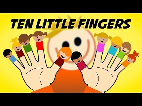Ten Little Fingers (instrumental with lyrics - karaoke video)