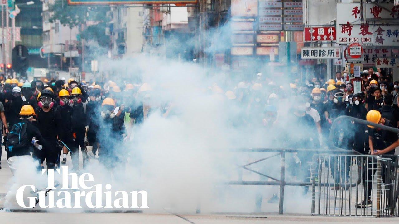 Hong Kong hit by more violence as protests enter 10th week