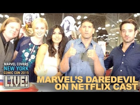 The Cast of Marvel's Daredevil drop by Marvel LIVE!