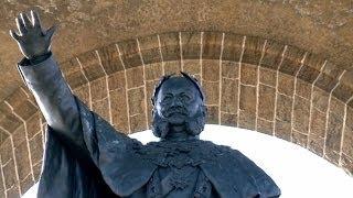 Das Kaiser-Wilhelm-Denkmal mit Aussicht auf die Porta Westfalica 3/2013