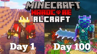 I Spent 100 days in HARDCORE RLCraft.. Here's What Happened