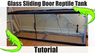 How To Add Glass Sliding Doors To A Reptile Vivarium - Custom Enclosure